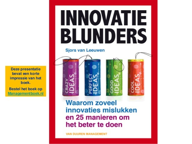 Innovatieblunders  - Presentatie Boekimpressie