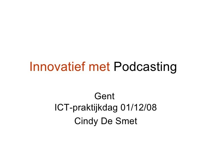 Innovatief Met Podcasting