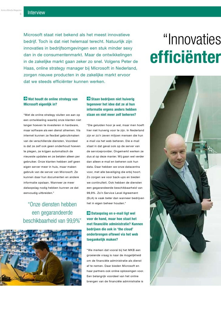 Interview: Innovaties Leiden Tot Efficienter Werken