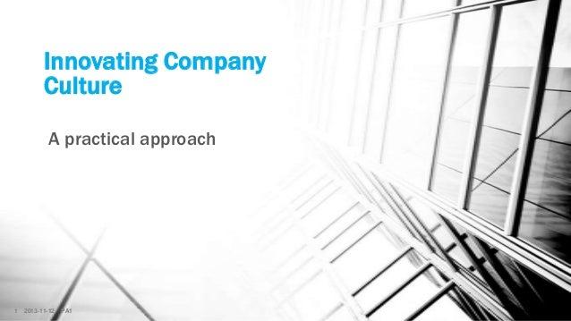 Innovating Company Culture
