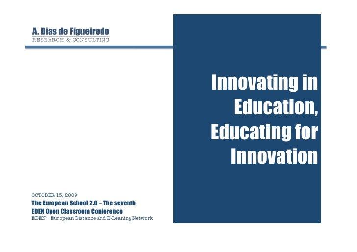 Innovating in                                                      Education,                                             ...