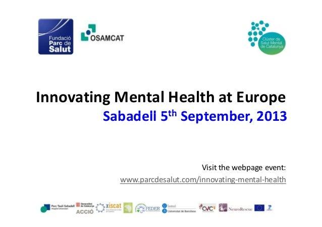 Innovating mental health at Europe - Catalonia (Spain)