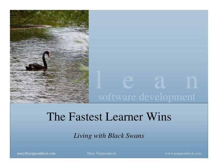 lsoftware development                                     e a n               The Fastest Learner Wins                    ...