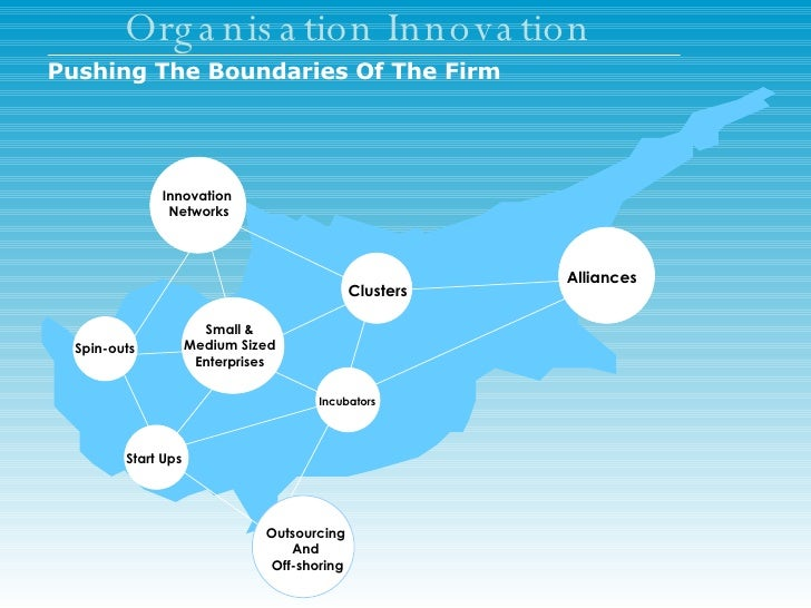Organisation Innovation Start Ups Incubators Clusters Innovation  Networks Spin-outs Alliances Outsourcing  And  Off-shori...