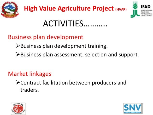 Business plan for agriculture project