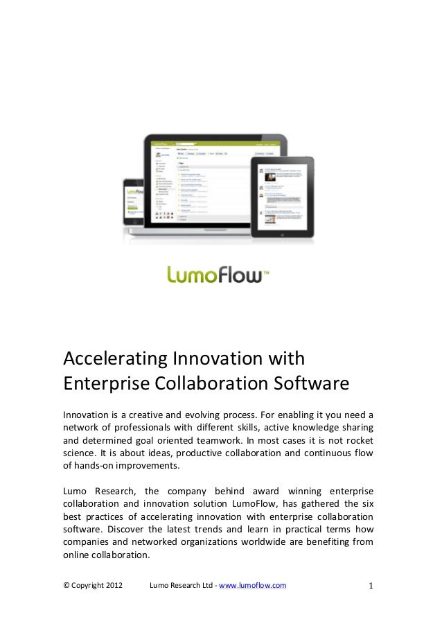 Accelerate innovation with enterprise collaboration software