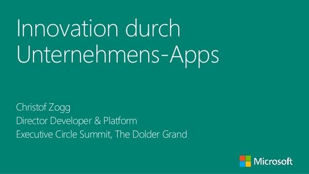 Innovation durch Unternehmens-Apps