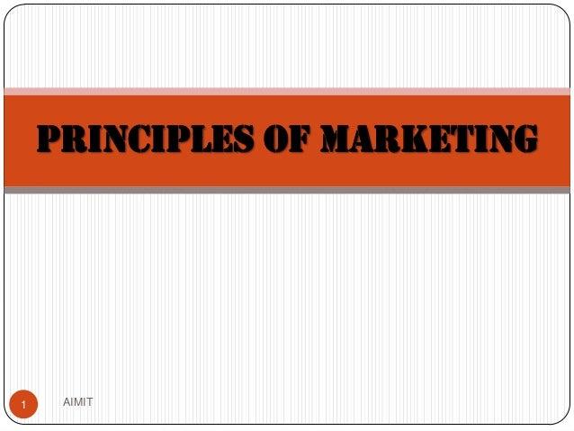PRINCIPLES OF MARKETING  1  AIMIT