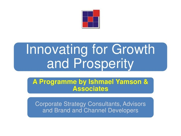 Innovating for Growth and Prosperity