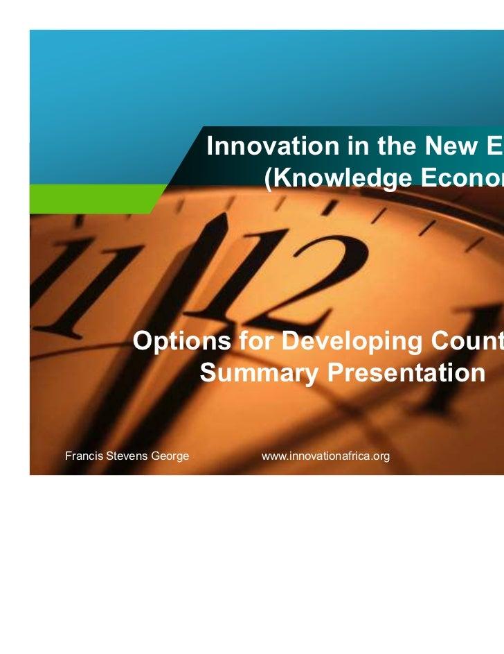 Innovation africa options2012