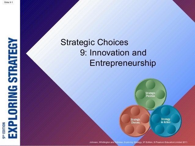 Slide 9.1            Strategic Choices                 9: Innovation and                    Entrepreneurship              ...