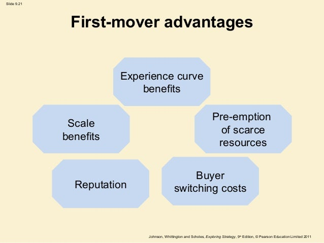 competitive advantage of first mover and late mover First mover advantage, order-of-entry effect, and late mover innovation    firms will gain a long term competitive advantage, as order of entry and market.