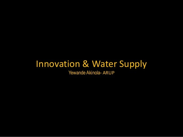 Innovation and Water Supply