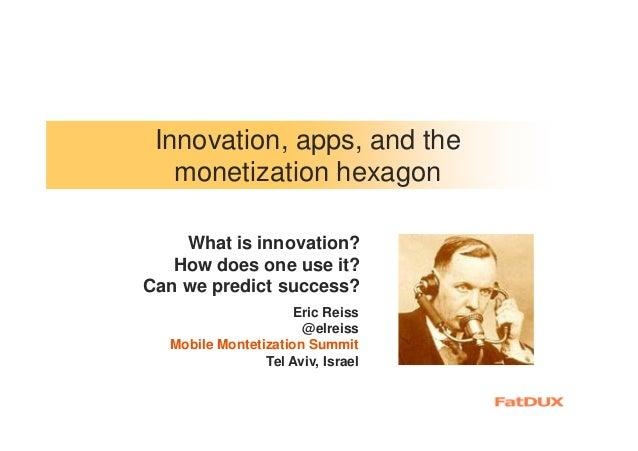 Innovation at Israel Mobile Monetization Summit