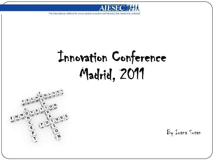 Innovation conference presentación
