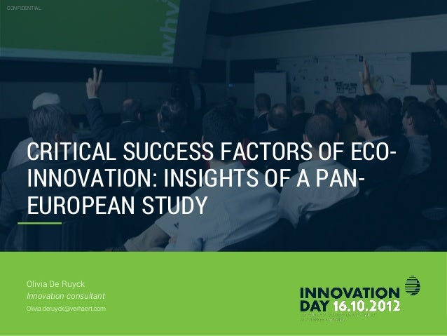 Innovation day 2012   13. olivia de ruyck - verhaert - 'critical succes factor of eco-innovation insights of a pan-european study'
