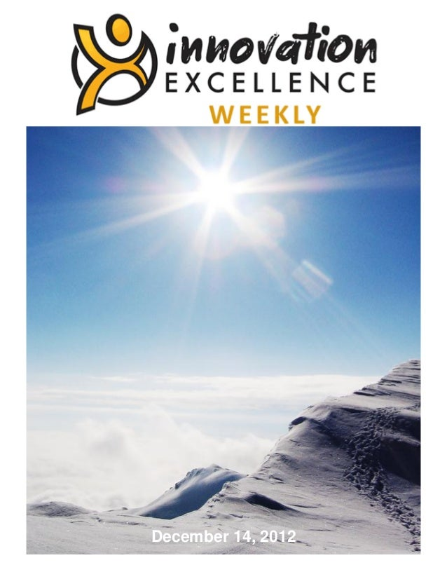Innovation Excellence Weekly - Issue 11