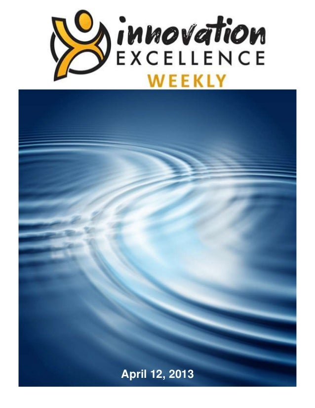 Innovation Excellence Weekly - Issue 28