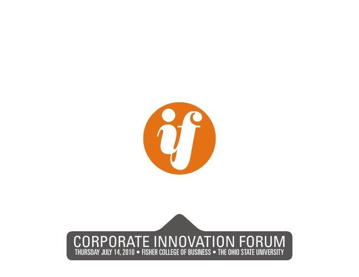 Innovation Fisher Corporate Innovation Forum Presentation