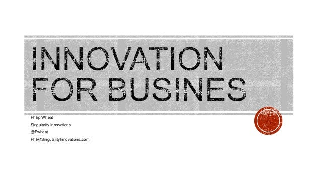 Innovation for business