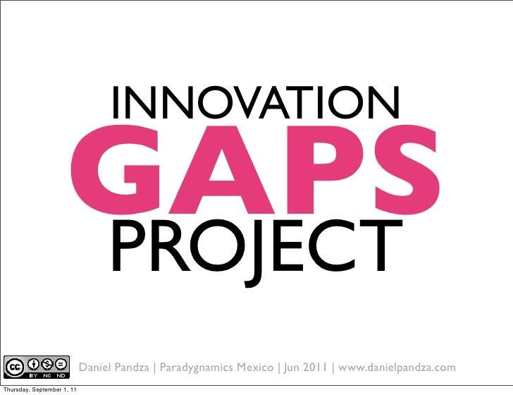 Innovation gap project outline