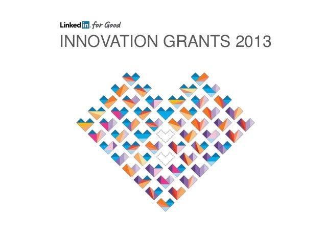 Innovation Grants 2013