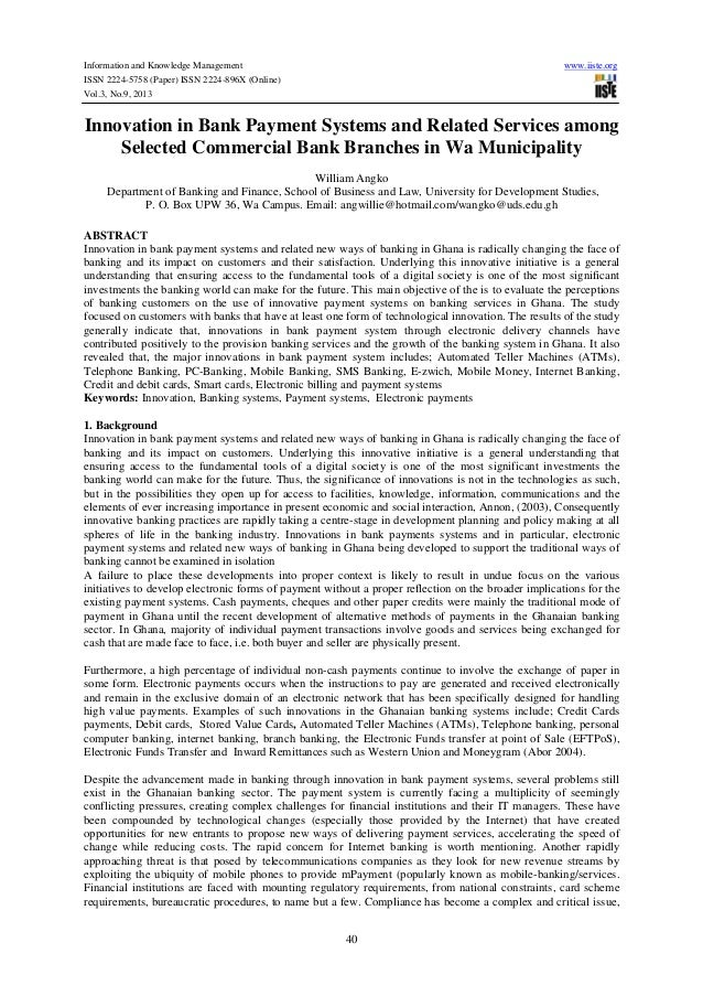 Information and Knowledge Management ISSN 2224-5758 (Paper) ISSN 2224-896X (Online) Vol.3, No.9, 2013  www.iiste.org  Inno...