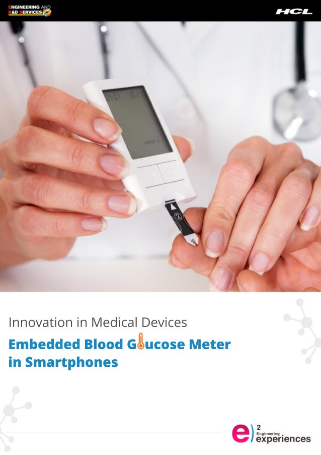 In medical devices embedded blood glucose meter in smartphones