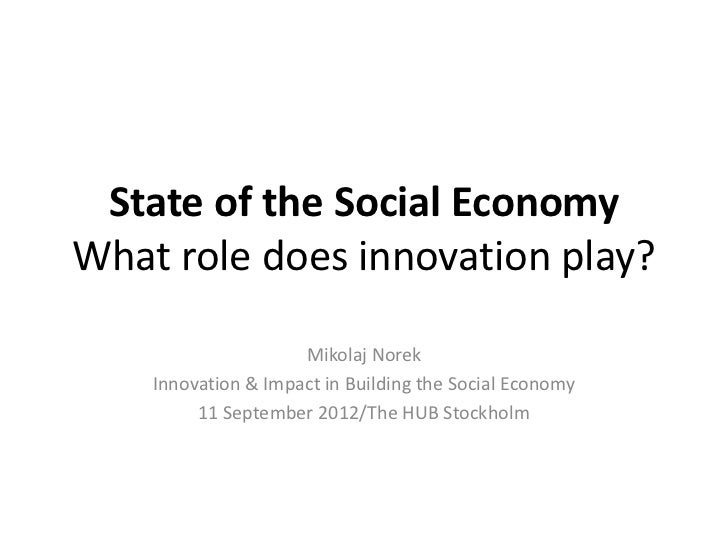 State of the Social Economy. What role does innovation play?