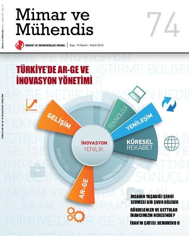 Türkiye'de ARGE ve İnovasyon Yönetimi