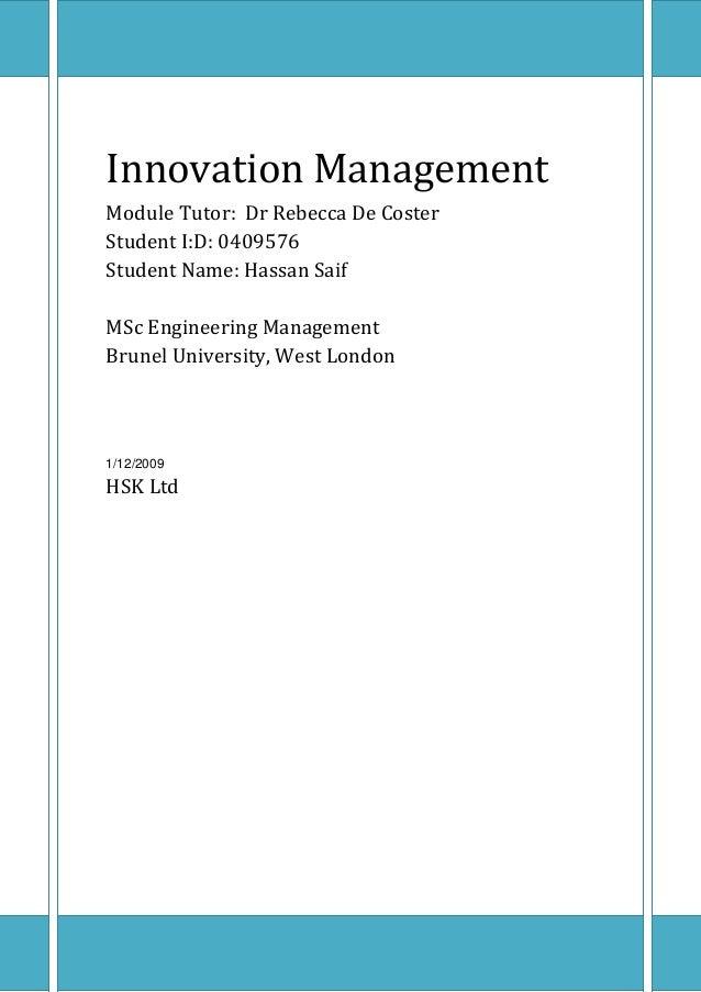 managing innovation at nypro case analysis Mba, management analysis, drexel university, 1982 ma, university of   supply chain management: innovations for education (co-editor with m eric.