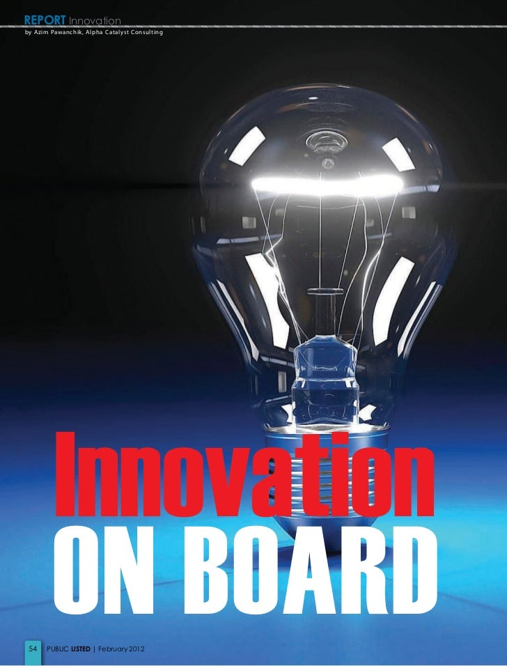 Innovation on Board