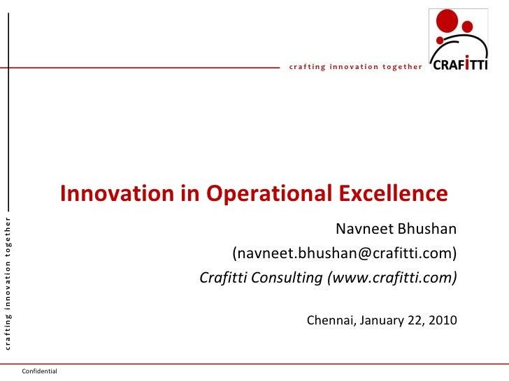 Innovation Operational Exellence Upload