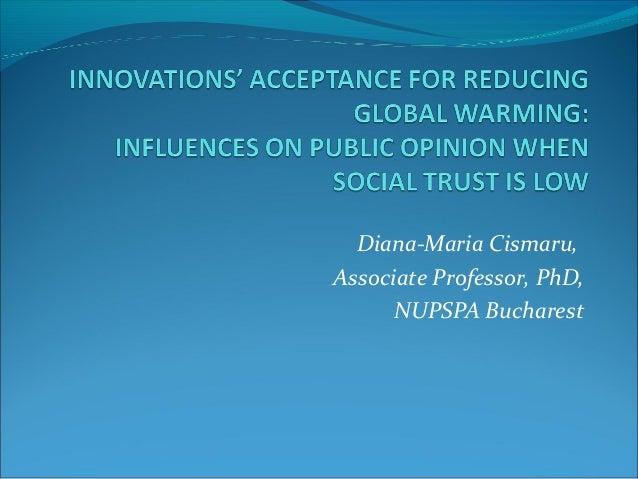 Diana-Maria Cismaru, Associate Professor, PhD, NUPSPA Bucharest
