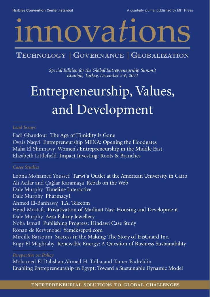 Innovations: Special Edition for the Global Entrepreneurship Summit 2011