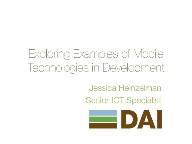 Exploring Examples of Mobile Technologies in Development
