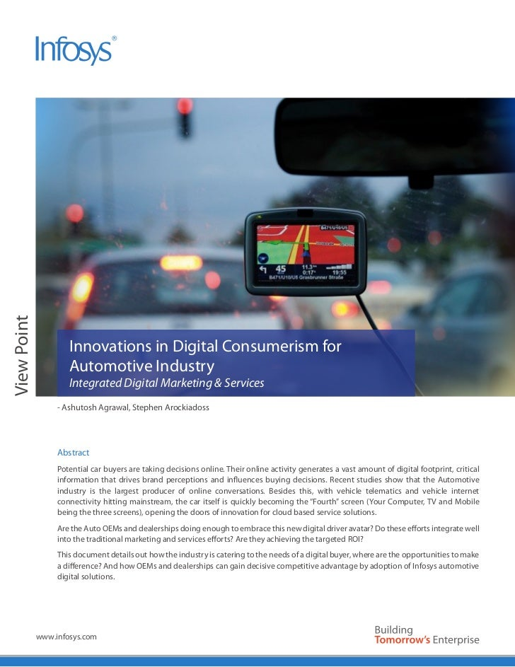 Innovations in Digital Consumerism for the Automotive Industry