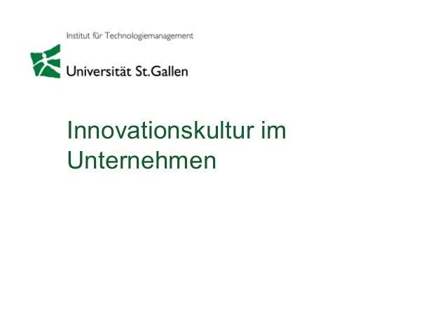 Innovationskultur im Unternehmen