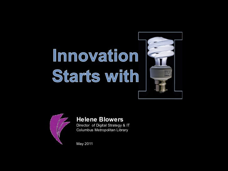 "Innovation Starts with ""I"""