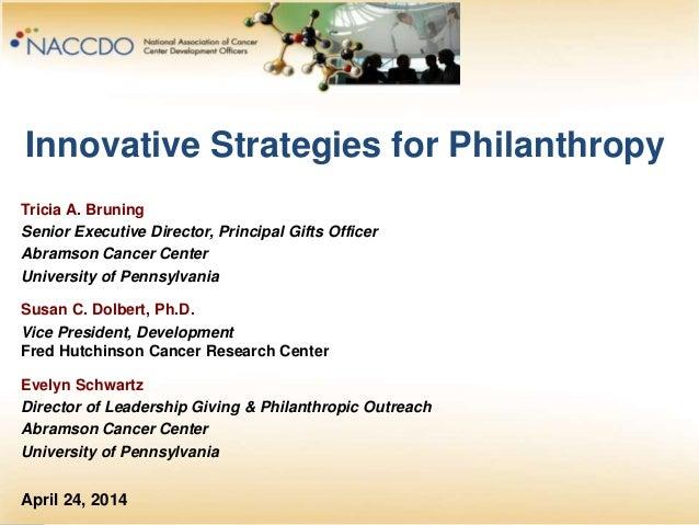NACCDO: Innovation strategies for philanthropy