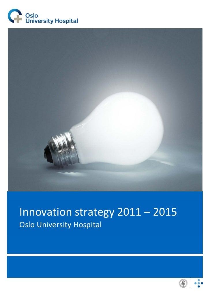 Innovation strategy 2011 2015