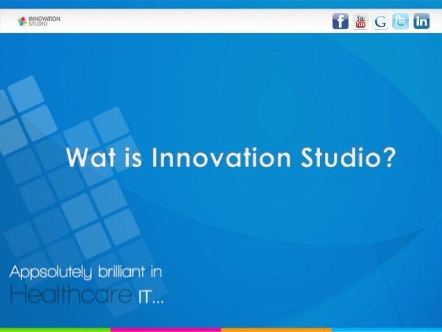 Innovation studio - presentatie