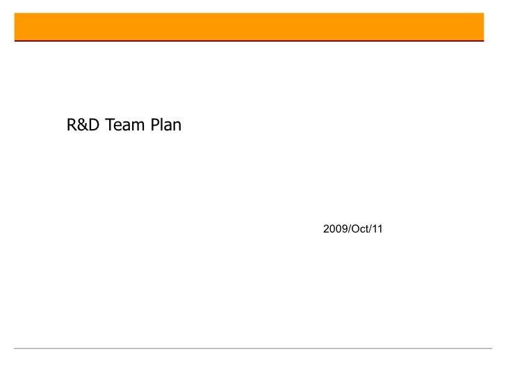 Innovation Team Plan