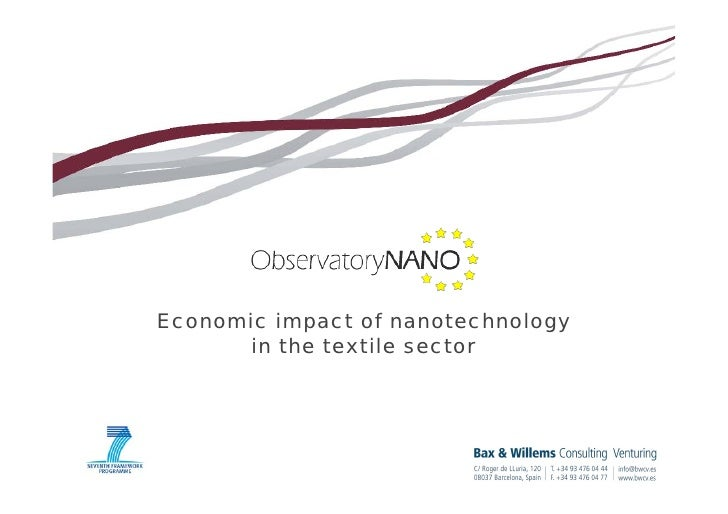 Economic impact of nanotechnology       in the textile sector