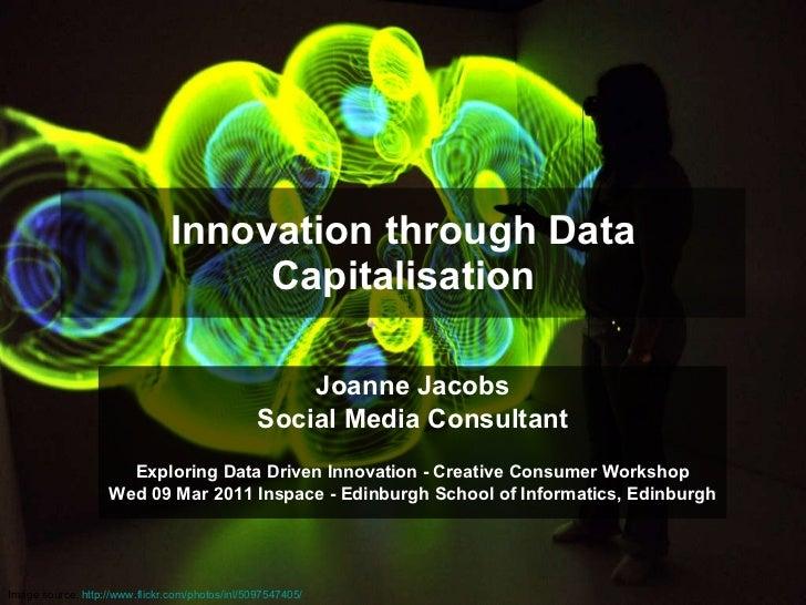 Innovation through data capitalisation