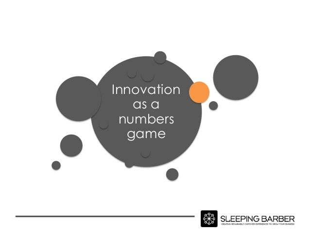 Innovation is a numbers game