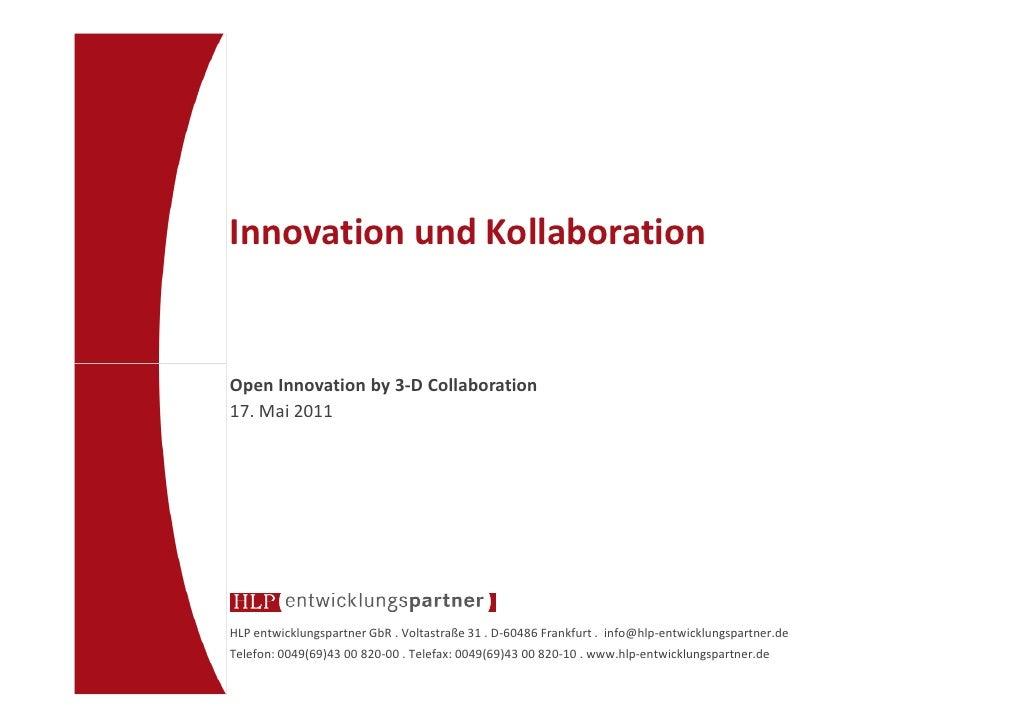 Innovation und kollaboration clemens frowein