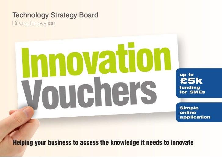 Technology Strategy BoardDriving Innovation   Innovation   Vo uchers                                                      ...
