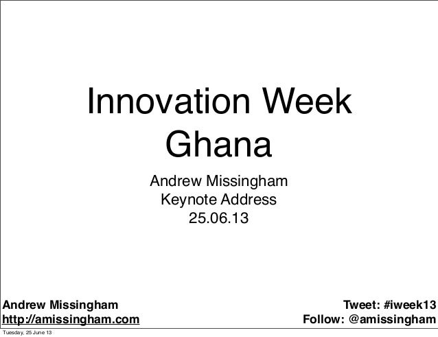 Innovation Week Ghana - the feature phone fortune at the base of the pyramid