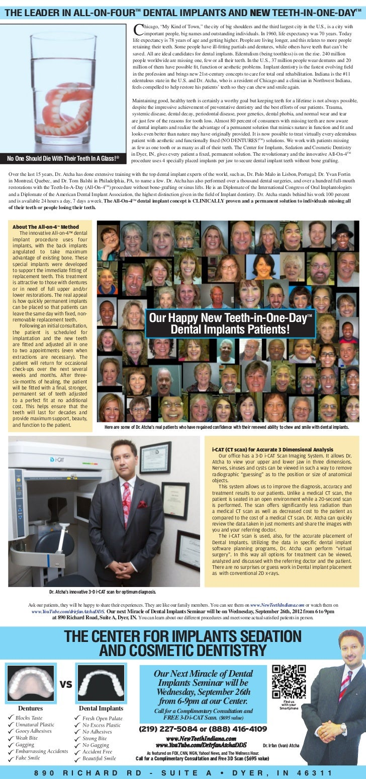 Leader in All-on-4 Dental implants and NEW Teeth-in-One-Day